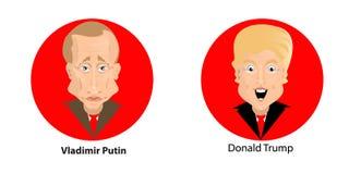 Donald Trump President Putin Vladimir Stock Photos