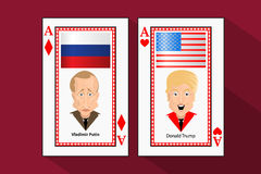 Donald Trump President Putin Vladimir Stock Images