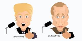 Donald Trump President Putin Vladimir Royalty Free Stock Photography
