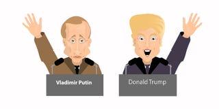 Donald Trump President Putin Vladimir Royalty Free Stock Photo