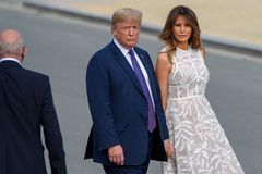 Donald Trump, President of United States and Melania Trump, 1st lady of United States of America. 11.07.2018. BRUSSELS, BELGIUM. World leaders arrives for stock photography