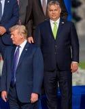 Donald Trump, presidente di U.S.A. e Victor Orban, Primo Ministro dell'Ungheria fotografia stock libera da diritti