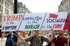 Donald Trump Rally anti en Londres central foto de archivo libre de regalías