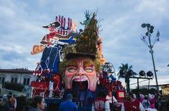 Donald trump represented satirically in Viareggio's Carnival Stock Photography
