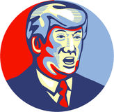 Donald Trump 2016 Republican Candidate. Illustration showing American real estate magnate, television personality, politician and Republican 2016 presidential Stock Images