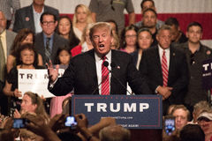 Donald Trump S First Presidential Campaign Rally In Phoenix Stock Photo