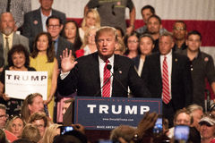 Donald Trump S First Presidential Campaign Rally In Phoenix Stock Image