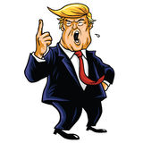 Donald Trump Cartoon, You're Fired!. Donald Trump Shouting, You're Fired! Cartoon Caricature Royalty Free Stock Images