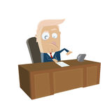 Donald trump signing important document clipart Royalty Free Stock Photo