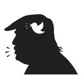 Donald Trump Silhouette y medios icono social de la actualización Ilustración del vector stock de ilustración
