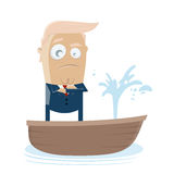Donald trump in sinking boat Royalty Free Stock Photos