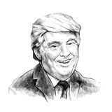 Donald Trump is smiling - Artistic Portrait Royalty Free Stock Photography
