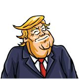 Donald Trump Smiling Face Stockfotos
