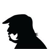 Donald Trump Social Media Updates Icona della siluetta di vettore Immagine Stock Libera da Diritti