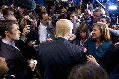 Donald Trump speaks Stock Photos