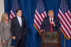 Donald Trump speaks at podium Royalty Free Stock Photography