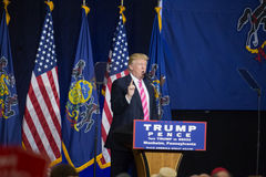 Donald Trump Speaks to Rally Crowd Royalty Free Stock Image