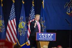 Donald Trump Speaks to Rally Crowd Stock Photo