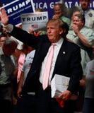 Donald Trump spricht an der Kampagnensammlung im Juli, 25, 2015, in Oskaloosa, Iowa Lizenzfreie Stockfotografie