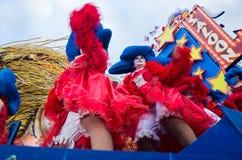 Donald Trump stellte satirisch in Viareggios Karneval dar Stockfotografie