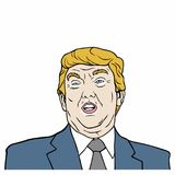 Donald Trump, 45th President of United States of America Vector Design Illustration. Icon Stock Photo
