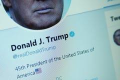Donald Trump Twitter royalty-vrije stock afbeelding