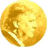 Donald Trump, US president, illustration with round shape royalty free stock photo