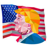 Donald Trump USA Flag Low Polygon Royalty Free Stock Photography