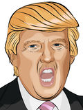 Donald Trump Vector Illustration Stock Photos