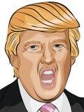 Donald Trump vector illustration. Donald Trump portrait vector images vector illustration