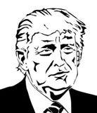 Donald Trump Vector Portrait ilustración del vector