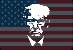 Donald Trump vector portrait stock illustration