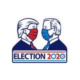 Donald Trump Versus Joe Biden Election 2020 Wearing Face Mask Stock Photos