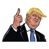 Donald Trump Vetora Portrait Illustration A 45th Presidente dos Estados Unidos Fotos de Stock