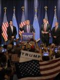 Donald Trump victory speech following big win in Nevada caucus, Las Vegas, NV Royalty Free Stock Photos