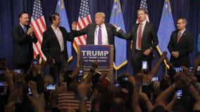 Donald Trump victory speech following big win in Nevada caucus, Las Vegas, NV Stock Photos