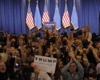 Donald Trump victory speech following big win in Nevada caucus, Las Vegas, NV Stock Image