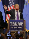 Donald Trump victory speech following big win in Nevada caucus, Las Vegas, NV Stock Images