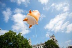 Donald Trump Visits el Reino Unido a las demostraciones fotografía de archivo libre de regalías