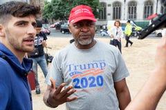 Donald Trump Visits het UK aan Demonstraties stock afbeelding