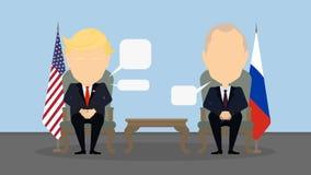 Donald Trump and Vladimir Putin. Stock Photos