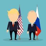 Donald Trump and Vladimir Putin. Royalty Free Stock Photos