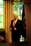 Donald trump wax statue at madame tussauds in hong kong stock photo