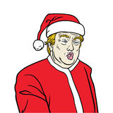 Donald Trump Wearing Santa Claus Costume vector illustration
