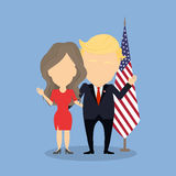 Donald Trump with wife. Stock Image