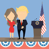 Donald Trump with wife. Stock Photography