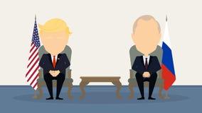 Donald Trump y Vladimir Putin ilustración del vector