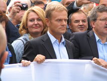 Donald Tusk. The prime minister (premier) of Poland Stock Image