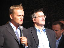 Donald Tusk and Bronislaw Komorowski Stock Photo