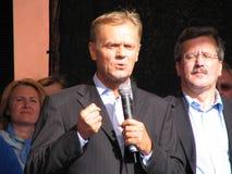 Donald Tusk and Bronislaw Komorowski stock image